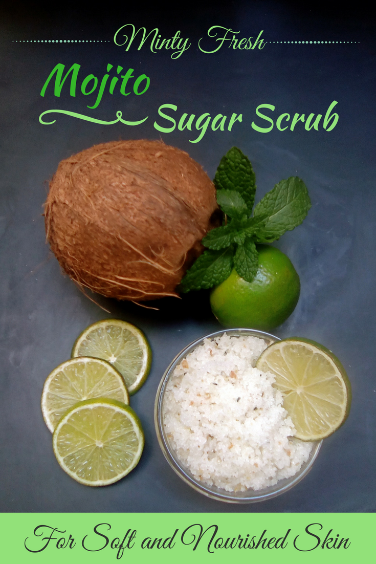 Minty Mojito Sugar Scrub - Naturally in Italy